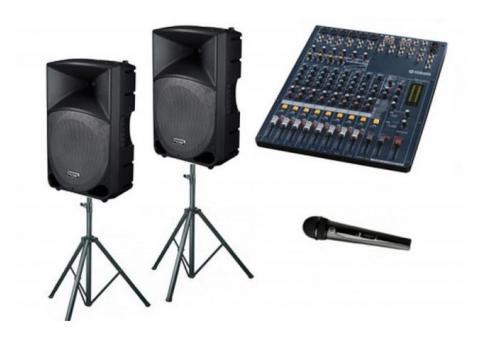 Аренда прокат звукового оборудования аппаратуры