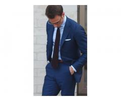 мужской костюм модель 2015 г синий.