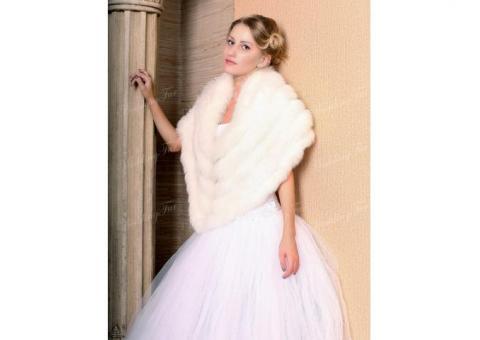Накидка на свадебное платье прокат