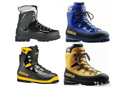 Аренда и прокат пластиковых альпинистских ботинок