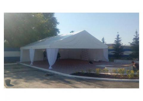 Двускатный шатер в аренду 10*10м