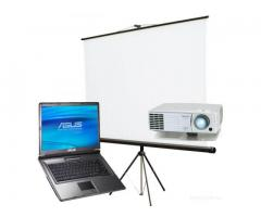 Аренда проектора и экрана,плазмы 50 дюймов